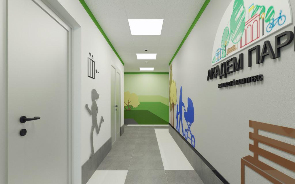 Типовый коридор-1 -к лифтовому холлу